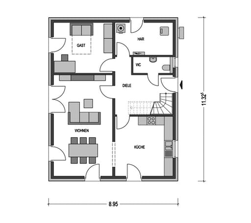 Klassik 1000.2 Floorplan 1