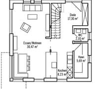Klassisch & Fein 121 - Var. 1 Grundriss