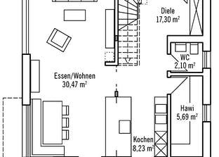Klassisch & Fein 121 - Var. 2 Grundriss