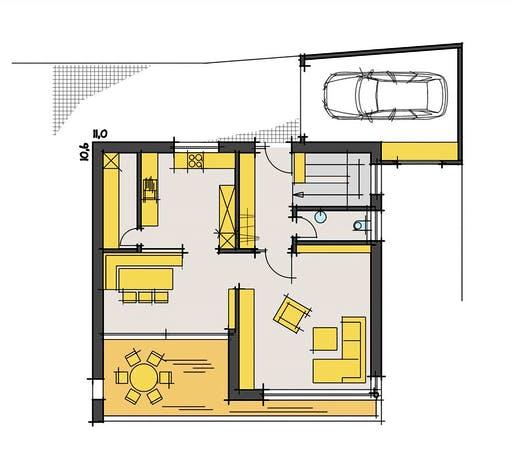 Korte - Dietrichs Floorplan 1