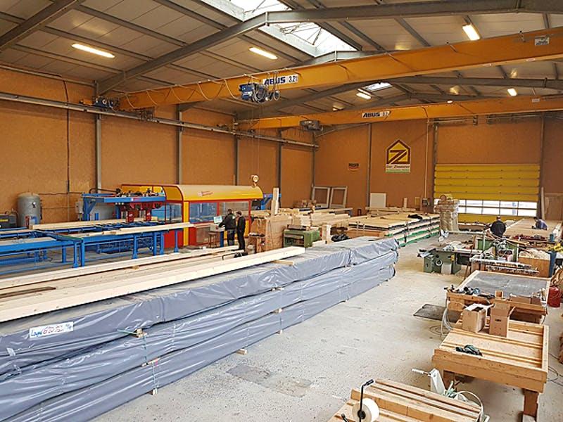Blick in die Fabrik von Korte Holzbau