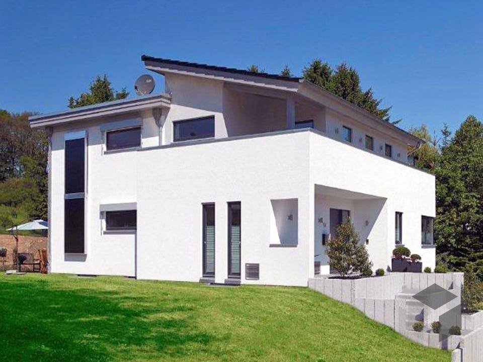 Kubistische Villa von Meisterstück-HAUS Außenansicht
