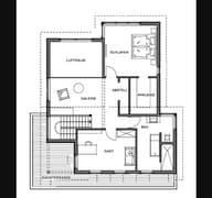 Kubistische Villa Grundriss