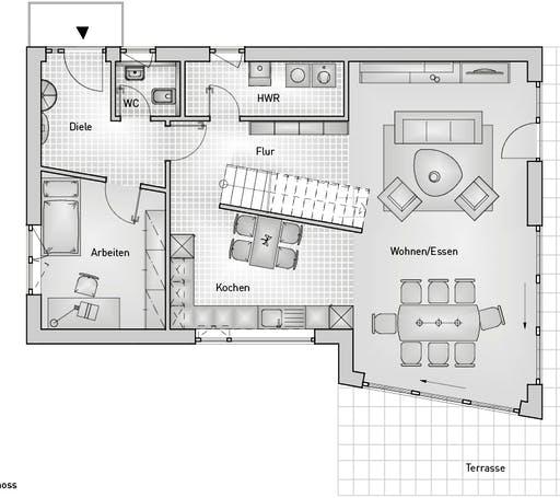 Kubus 25.87 Floorplan 1