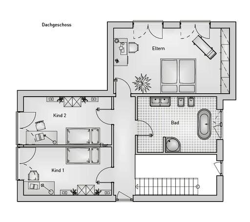 Kubus 25.17 EFH Floorplan 2