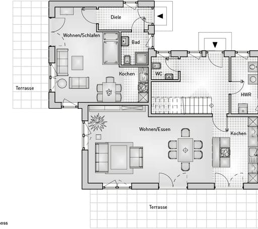 Kubus 25.18 EFH Floorplan 1