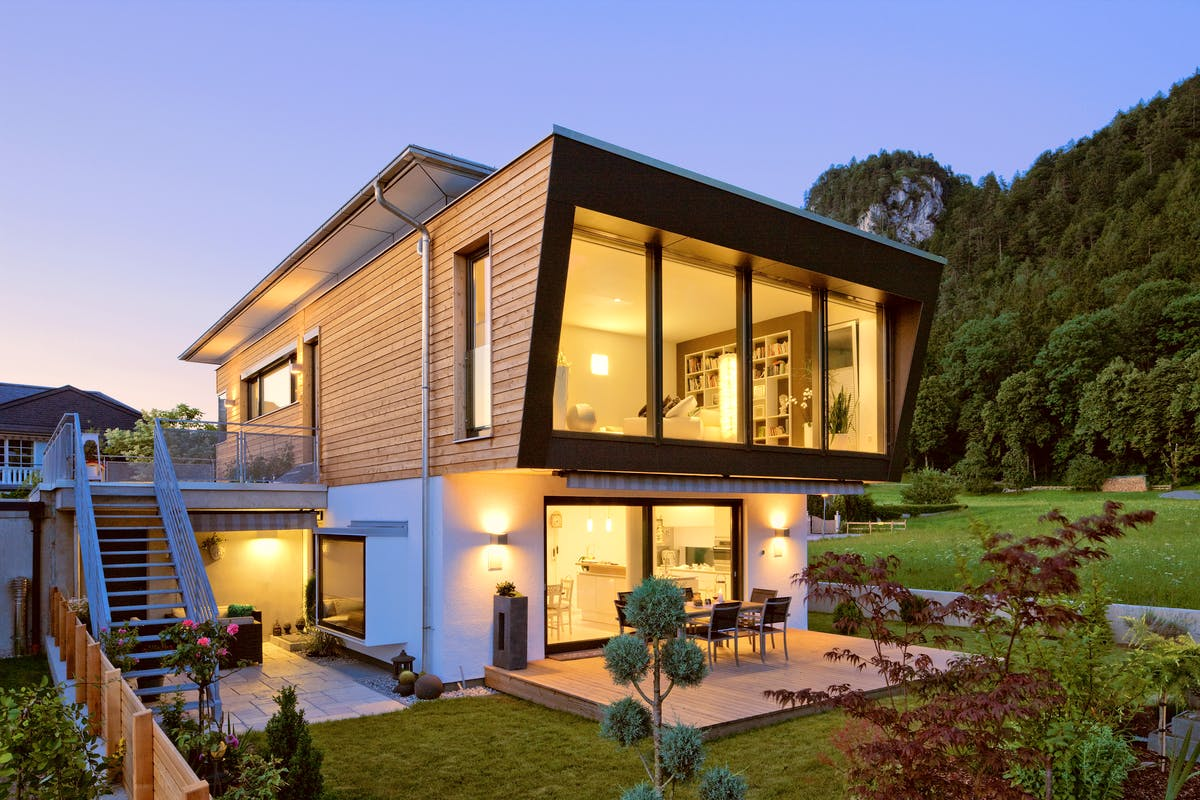 Individuelles Haus vom Architekten geplant