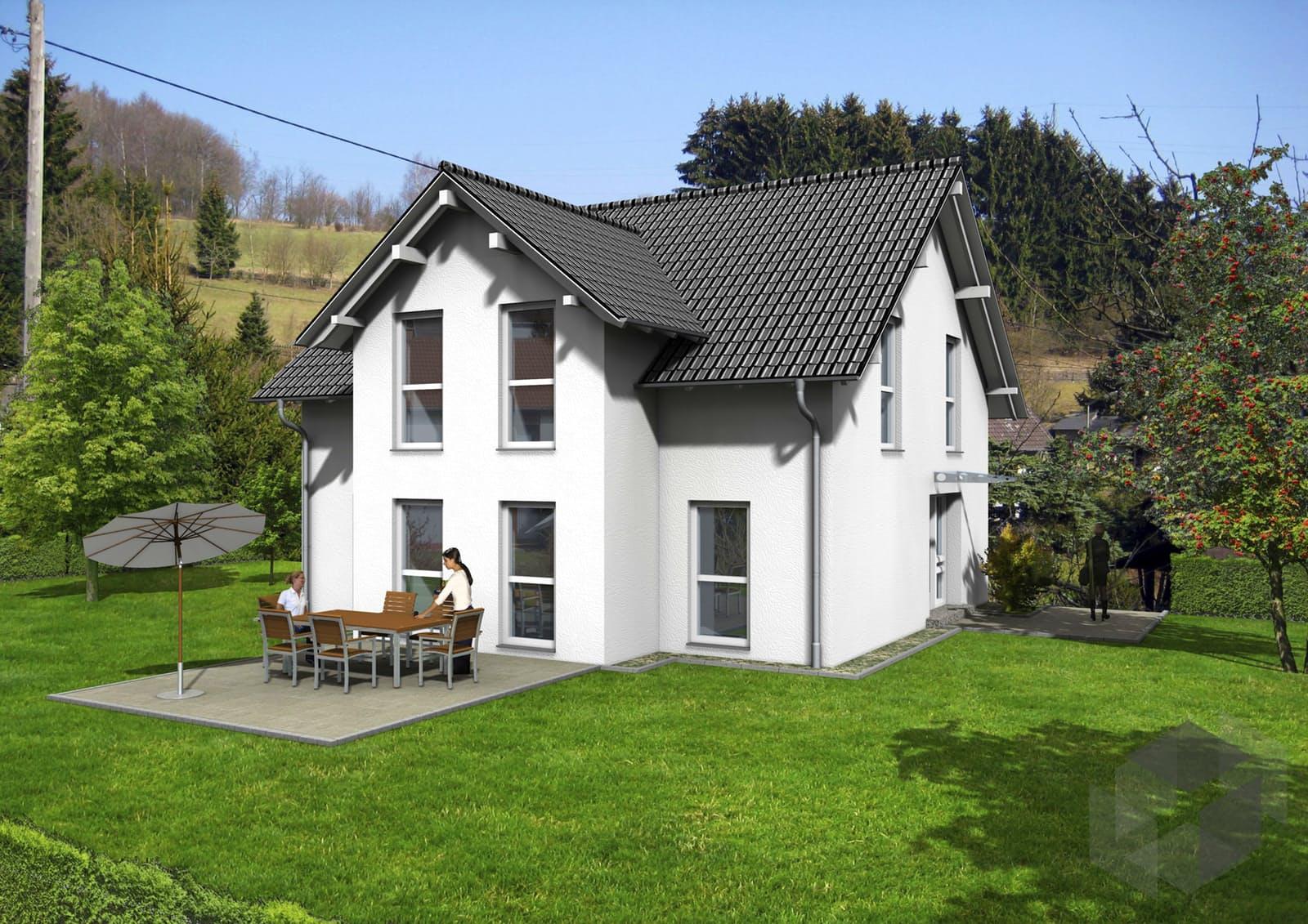 landhaus von siegerland massivhaus komplette. Black Bedroom Furniture Sets. Home Design Ideas