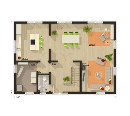 Landhaus 142 Süd Trend Floorplan 1