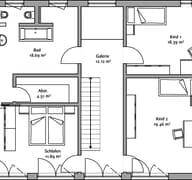 LaStructura Cubus (Passivhaus) Grundriss