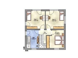 Lifestyle 135 ZD von EUROMAC 2 Grundriss 1