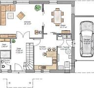 Lifestyle 219 - inkl. umbauter Garage Grundriss