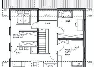 Linear Grundriss