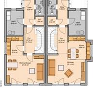 Doppelhaus Linus Grundriss