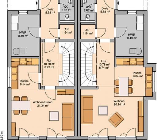 Linus Doppelhaus Floorplan 1