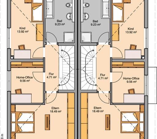 Linus Doppelhaus Floorplan 2