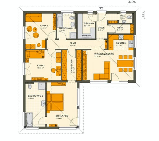 Living Haus - Solution 100 V3 Floorplan 1