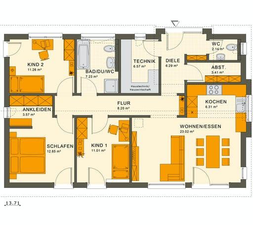 Living Haus - Solution 100 V4 Floorplan 1