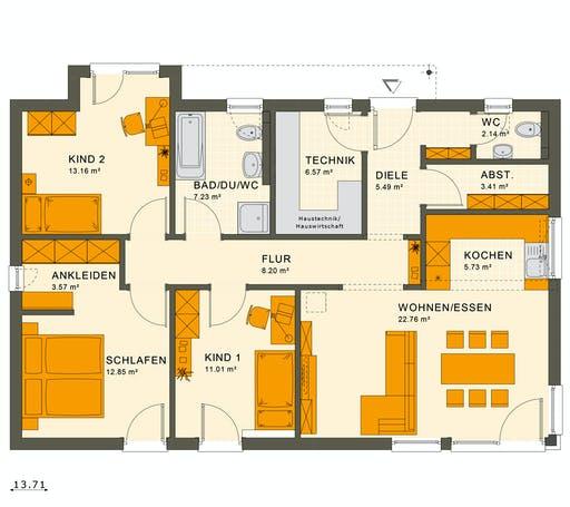 Living Haus - Solution 100 V7 Floorplan 1