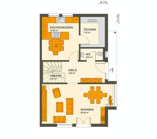 Living Haus - Solution 126 L V2 Floorplan 1