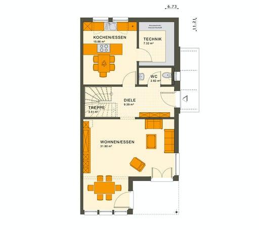 Living Haus - Solution 126 XL V5 Floorplan 1