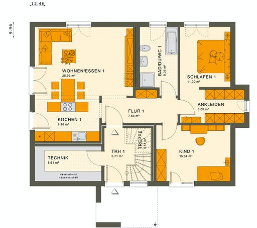 Living Haus - Solution 204 V4 Floorplan 1