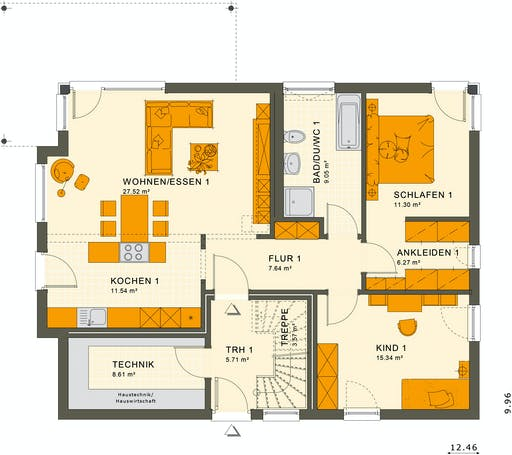 Living Haus - Solution 204 V6 Floorplan 1