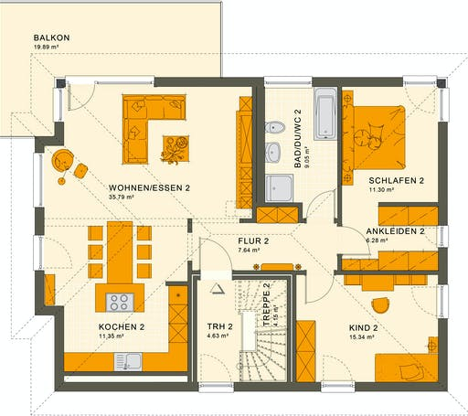Living Haus - Solution 204 V6 Floorplan 2