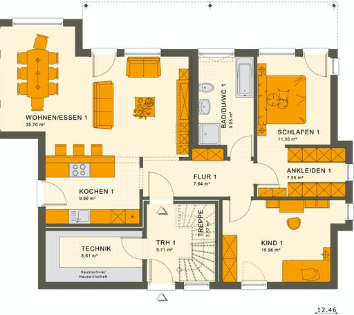 Living Haus - Solution 204 V8 Floorplan 1