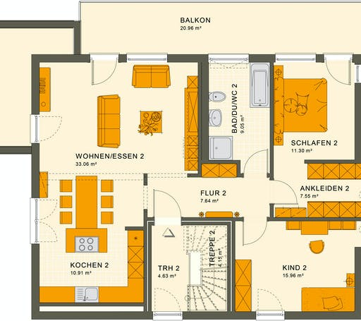 Living Haus - Solution 204 V8 Floorplan 2