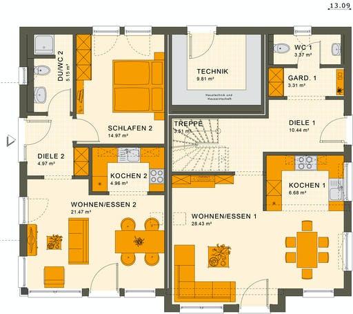 Living Haus - Solution 230 V6 Floorplan 1
