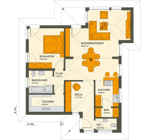 Living Haus - Solution 78 V8 Floorplan 1