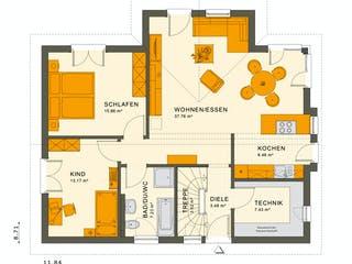 SOLUTION 87 V2 von Living Haus Grundriss 1