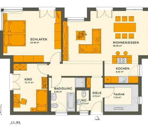 Living Haus - Solution 87 V6 Floorplan 1