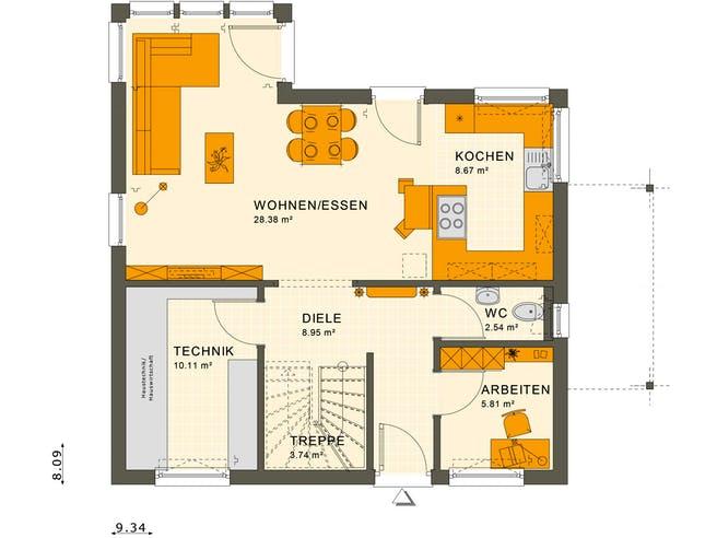 Living Haus - Sunshine 125 V2 Floorplan 1