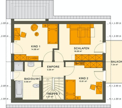 Living Haus - Sunshine 125 V2 Floorplan 2