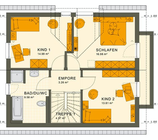 Living Haus - Sunshine 125 V3 Floorplan 2
