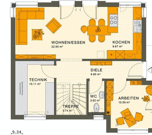 Living Haus - Sunshine 125 V6 Floorplan 1