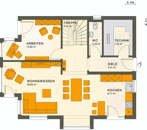 Living Haus - SUNSHINE 143 V4 Floorplan 1
