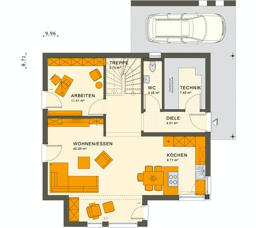 Living Haus - SUNSHINE 143 V5 Floorplan 1