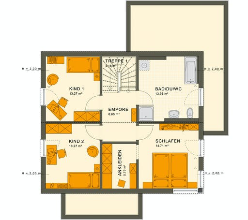 Living Haus - SUNSHINE 143 V5 Floorplan 2