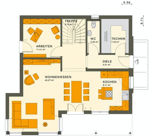 Living Haus - SUNSHINE 143 V6 Floorplan 1