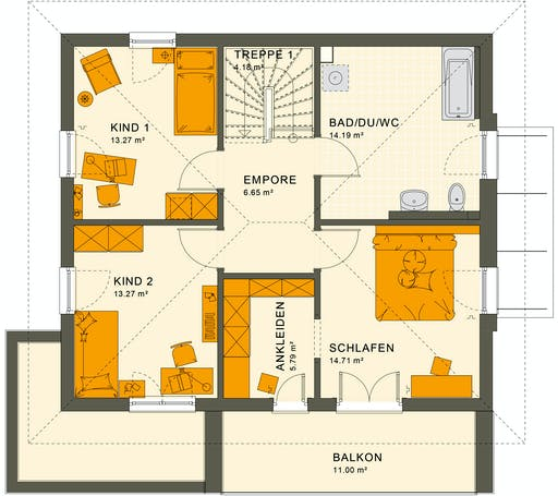 Living Haus - SUNSHINE 143 V6 Floorplan 2