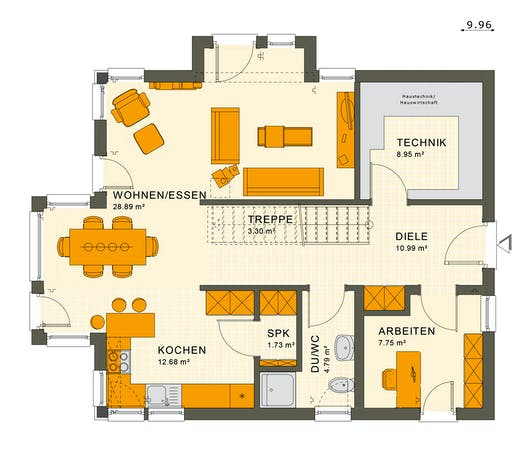 Living Haus - SUNSHINE 144 V3 Floorplan 1