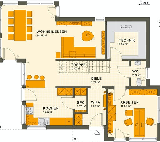 Living Haus - SUNSHINE 144 V6 Floorplan 1