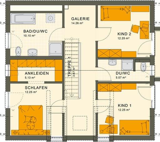 Living Haus - SUNSHINE 154 V3 Floorplan 2