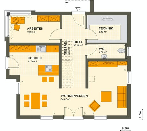 Living Haus - SUNSHINE 154 V5 Floorplan 1