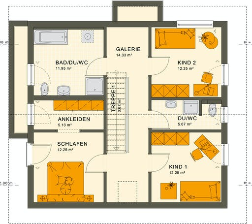 Living Haus - SUNSHINE 154 V5 Floorplan 2