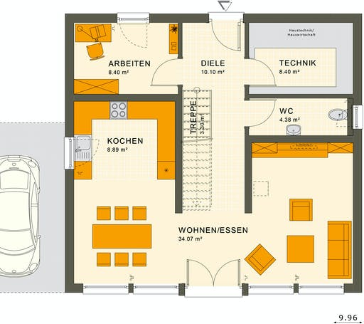 Living Haus - SUNSHINE 154 V7 Floorplan 1