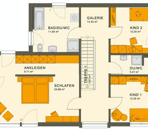 Living Haus - SUNSHINE 154 V7 Floorplan 2